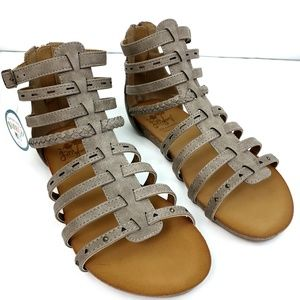 Jellypop Women's Gladiator Flat Sandals Size 9.5 M
